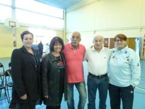 Horace et Jean-Claude entourés de Cathy Fleury, Mme Rieux et Mme Dreuilhe
